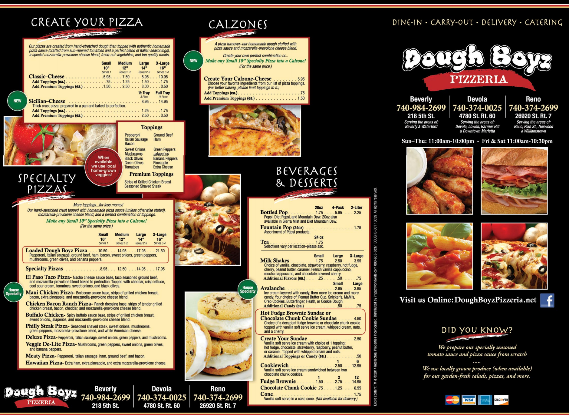 doughboyz menu page 1